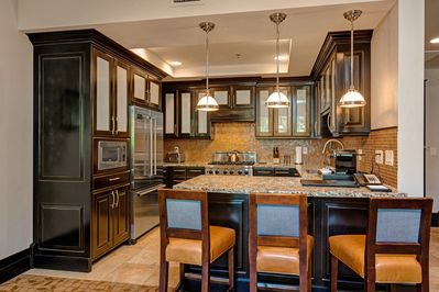 Kitchen - The top-of-the-line kitchen includes all the cookware, dishes, and gadgets you need.