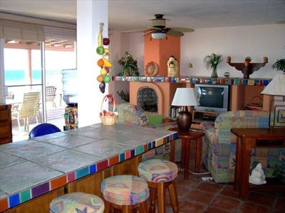 Beautiful Mexican style living room