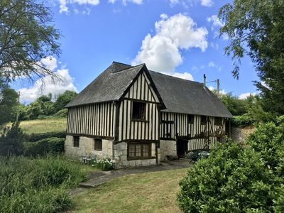 Photo for Beautiful 17th century colombage cider press set in idyllic valley