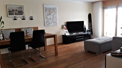 Photo for Beautiful apartment with patio in the center of Flims