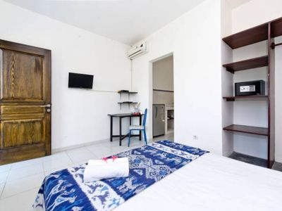 Photo for Canggu Apartment for 2, Kitchen Included, Well Equipped, Great Location, monthly