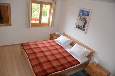Bedroom 1 with Large Austrian Twin bed