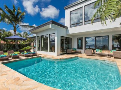 Oceanfront, Private home, Diamond Head view, Pool, Modern, Luxury, Aloha Nalu