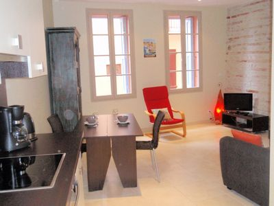 Photo for Newly renovated apartment beside Collioure beach. wi-fi available