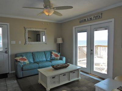 Photo for The BeachFront Condo, 16 Steps to the White Sandy Beach