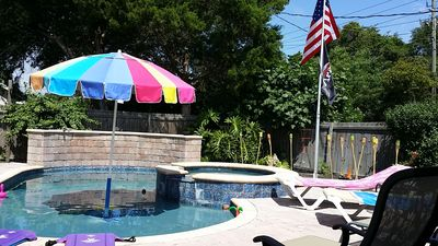 Mini Resort In Your Private Back Yard! Incl. Beach Chairs, Fire Pit,Hot Tub,Pool