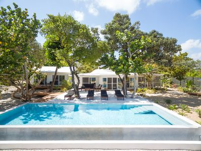 Photo for Unique Oceanfront 4 Bedroom Bungalow with Pool! Close to Placencia Village!