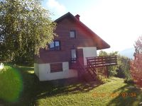 Lovely, well equipped chalet with beautiful views from the balcony and surrounding garden.