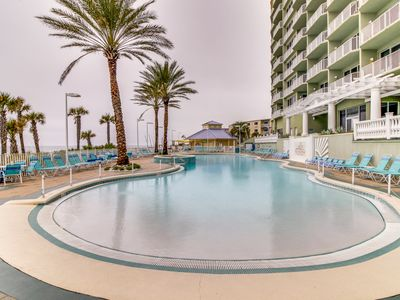 Photo for Centrally located Gulf front condo w/ amazing views, shared pool & hot tub!