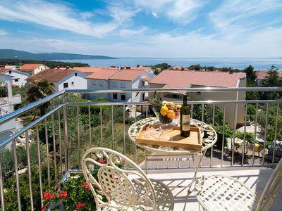Photo for Studio flat with balcony and sea view Krk