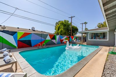 Incredible backyard with private pool and Insta-worthy mural!