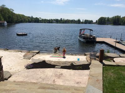 Fine beach sand trucked in for lake side relaxing or playing