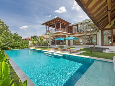 Photo for SUPER LUXURY 3 Bedroom villa near Canggu surfing Beach