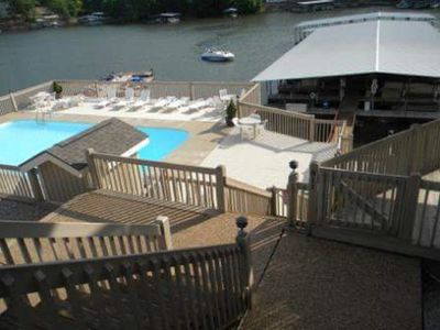 Access to the deck of the condo and view of pool from parking lot!  Easy access!