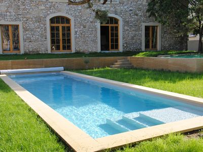 Photo for Building 180m2 with swimming pool 12x3,5m salt water