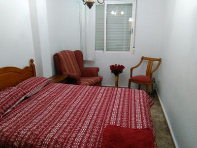 Master bedroom with air con