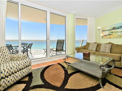 Photo for Brightly colored beachfront condo w/private balcony! 🏖️