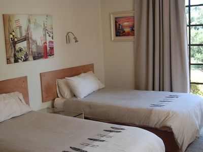 Photo for Most Hired Guest Suites, Cozy guest room (2 singles or 1 king), garden setting