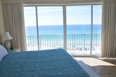 View from MBR with 15 ft.long floor to ceiling bay window for panoramic views.