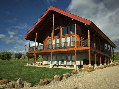 Photo for Enjoy our newly built 5 bedroom 3.5 bath log cabin at beautiful Bear Lake Utah!