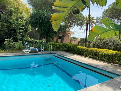 Photo for AKUARELA - PRIVATE POOL - BIG BARBECUE- QUIET RESIDENTIAL AREA 25 MINUTES FROM BARCELONA