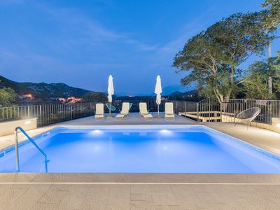 Photo for Stone house with swimming pool, antique furniture and beautiful view
