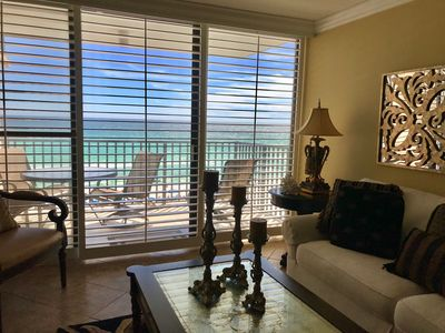 Photo for Elegant Beachfront Condo w/Balcony, Gulf View, Pool, & More