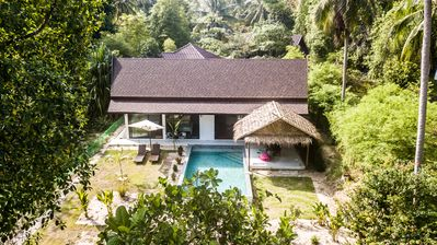 Photo for VILLA 700M BEACH / SHOPS, PLAIN -PIED, 2 BEDROOMS, PRIVATE POOL
