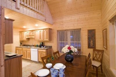 Kitchen Fully Equipped and Dining Area, Seating for 8.
