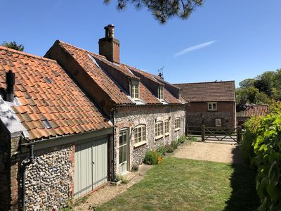 Photo for Chapel Cottage North Norfolk - 3 bedrooms, garden, parking, wifi & pet free.