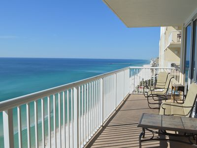 Photo for Unit 2101  3 Br/2bath West end corner condo  with awesome beach views.
