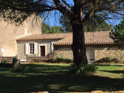 Photo for Cottage with pool, terrace, park, near Carcassonne ideal for families.