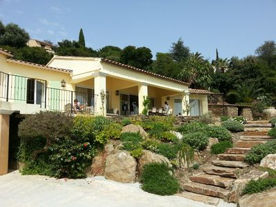 Photo for Luxury villa, high standard, French Riviera with swimming pool and super sea views