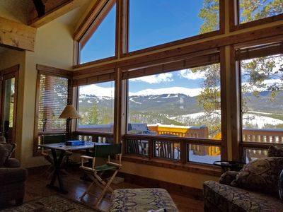 View from the Living Room at Alpine Vista Lodge