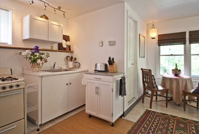 Prepare meals + snacks in your well-equipped kitchenette