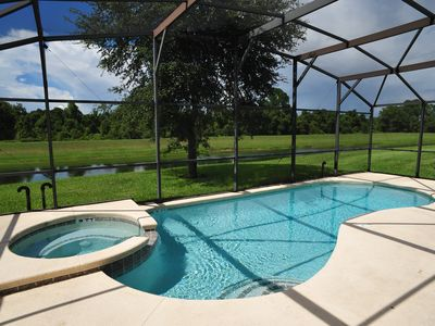 Photo for Kissimmee, Water Front Villa in Emerald Island, 3 Mi to Disney, 4Br/3Ba,Theme Rm