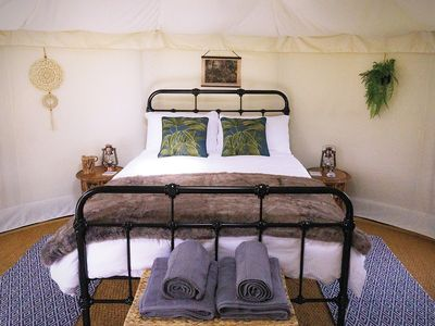 Photo for Deluxe yurt, glamping in the countryside