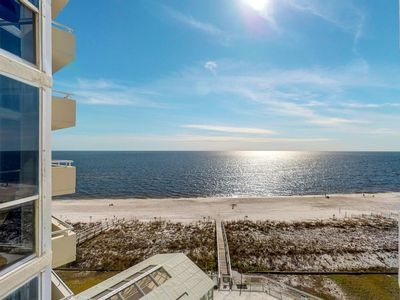 Photo for Beachfront condo w/ Gulf view & shared indoor/outdoor pool/hot tub