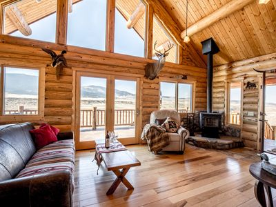 Photo for True Montana Log Cabin, Great Hunting/Private Madison River Fishing, 3+ 2.5/YNP