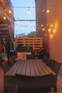 patio by night - private and inviting