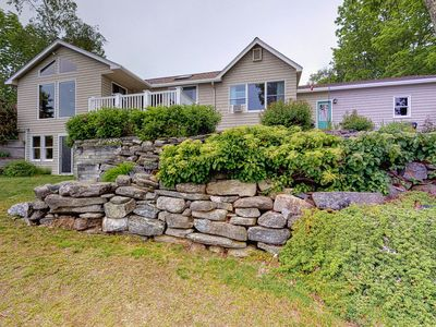 Photo for Waterfront home w/ a furnished deck, beautiful ocean views, & a full kitchen