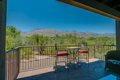 Watch the wildlife and canyon views from your patio.