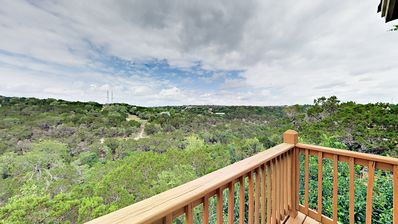 Deck View - Elevated deck with endless views of Hill Country