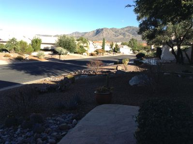 beautiful mountain view from front of the house