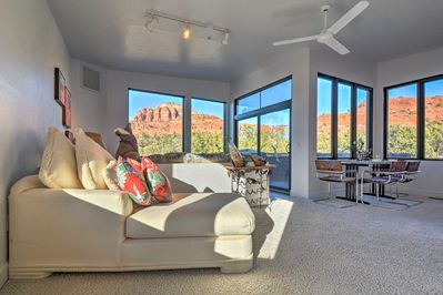 Escape to the desert for a getaway at this vacation rental studio in Sedona!