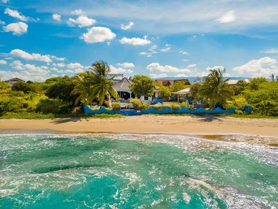 Located right on a secluded beach on the Caribbean Sea
