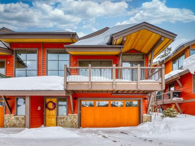Photo for Modern townhome w/ shared pool & hot tub + mountain views - close to trails!