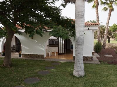 Photo for Beautiful holiday bungalow, Maspalomas Parque Golf 1, also for longer winter period