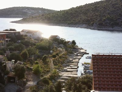 Photo for Three bedroom apartment with terrace and sea view Sevid, Trogir (A-5221-a)