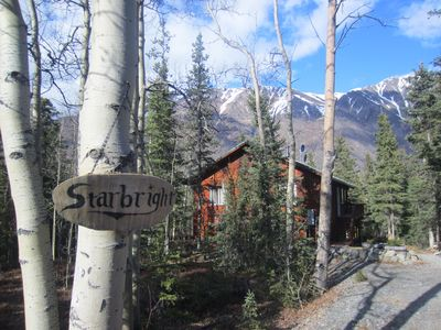 This home is situated in mature spruce and birch forest in a quiet neighborhood.